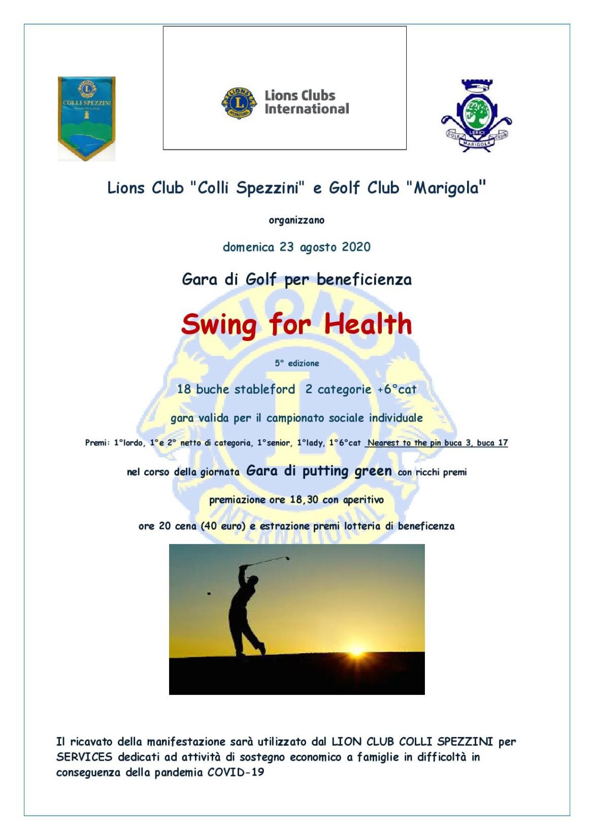 Swing For Health – 5^ Edizione