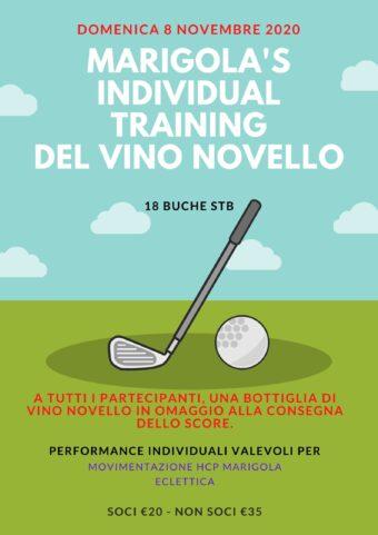 MARIGOLA'S INDIVIDUAL TRAINING DEL VINO NOVELLO