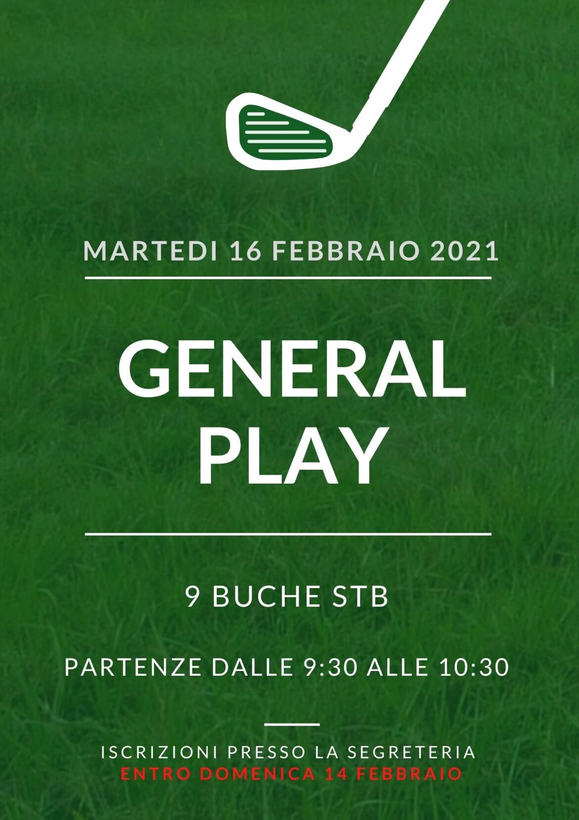 GENERAL PLAY del 16 febbraio 2021