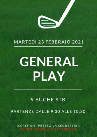 GENERAL PLAY del 23 febbraio 2021