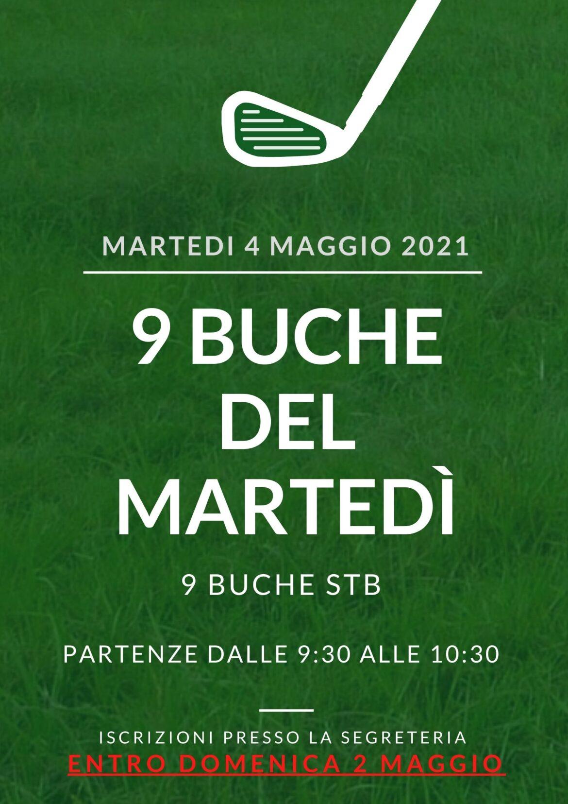 9 BUCHE DEL MARTEDì 4 MAGGIO 2021