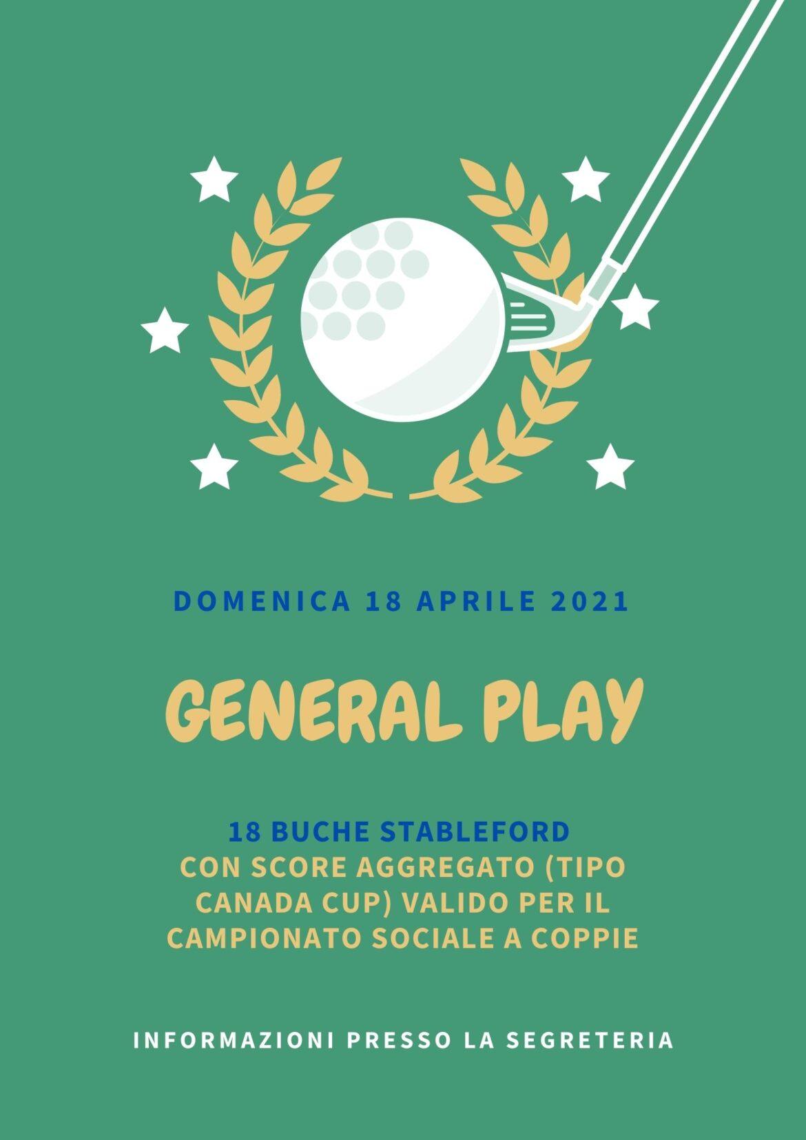 GENERAL PLAY 18 APRILE 2021