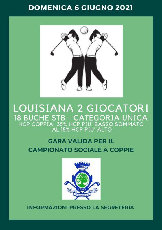 LOUISIANA 2 GIOCATORI campionato sociale a COPPIE