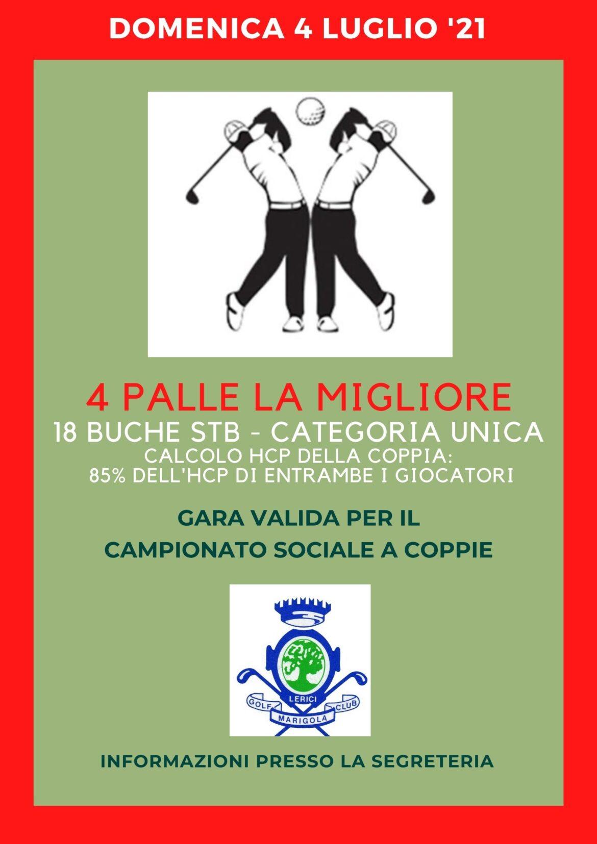 4 PALLE LA MIGLIORE – camp. soc. COPPIE