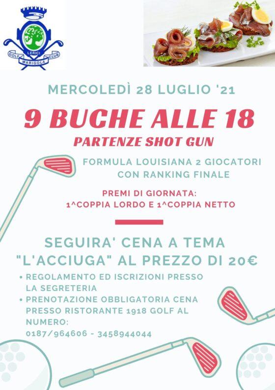 9 BUCHE ALLE 18 – SHOT GUN mercoledì 28 luglio ore 18:00