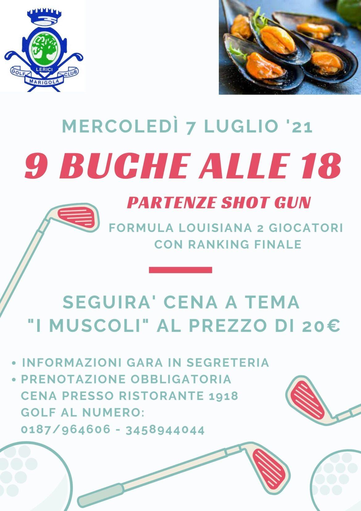9 BUCHE ALLE 18 – PARTENZE SHOT GUN del 7 luglio 2021