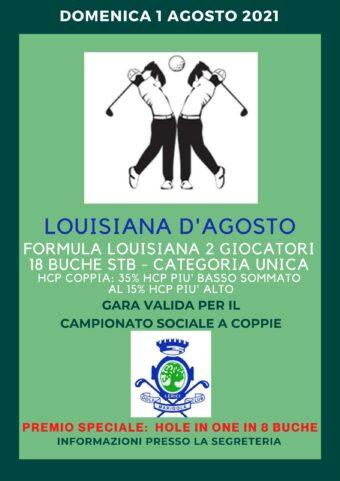 LOUISIANA D'AGOSTO – Campionato sociale a COPPIE