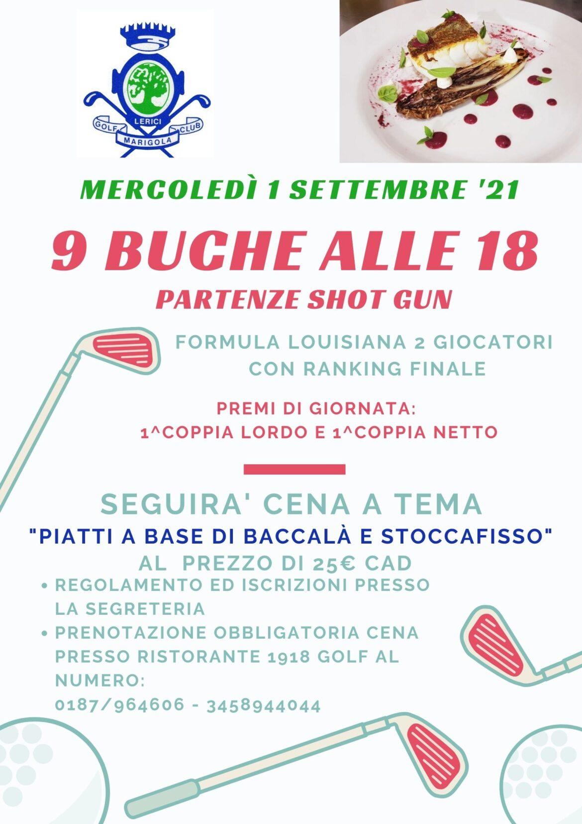 9 BUCHE ALLE 18 – SHOT GUN mercoledì 1 settembre