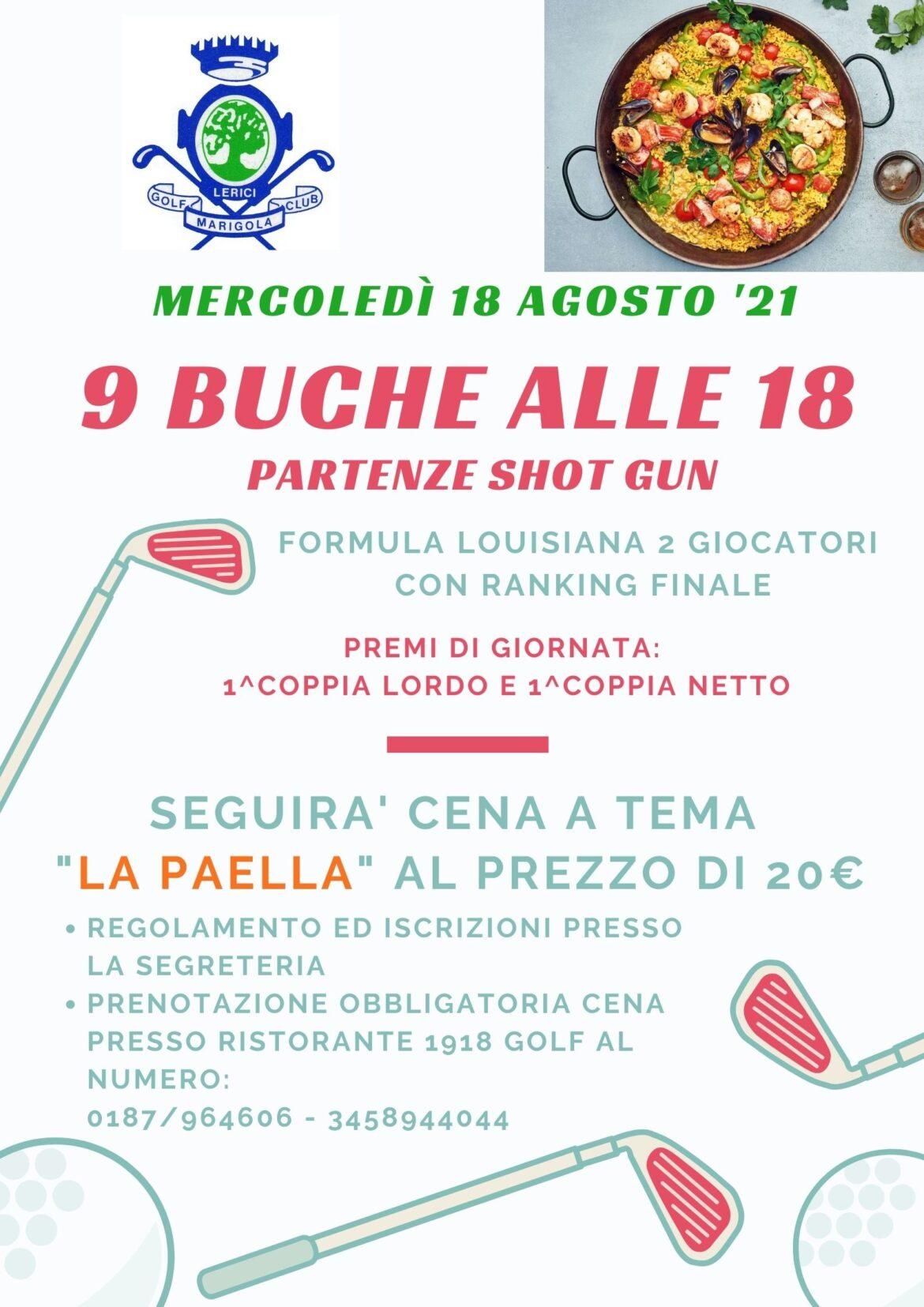 9 BUCHE ALLE 18 – SHOT GUN mercoledì 18 agosto