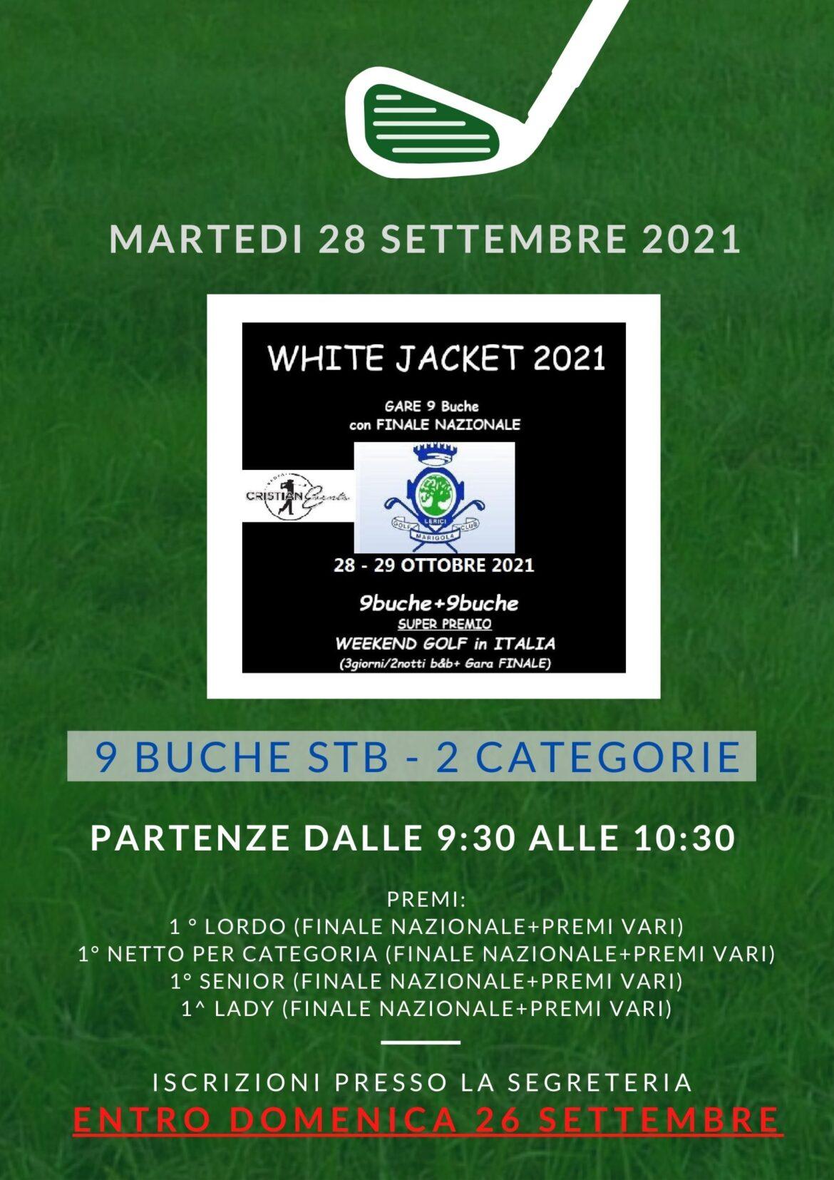 WHITE JACKET by Nuova Cristianevents – 28 settembre 2021