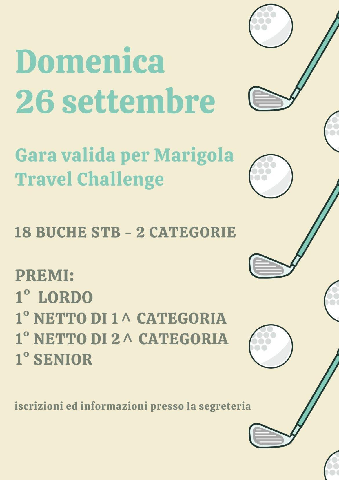 MARIGOLA TRAVEL CHALLENGE – DOMENICA 26 SETTEMBRE 2021