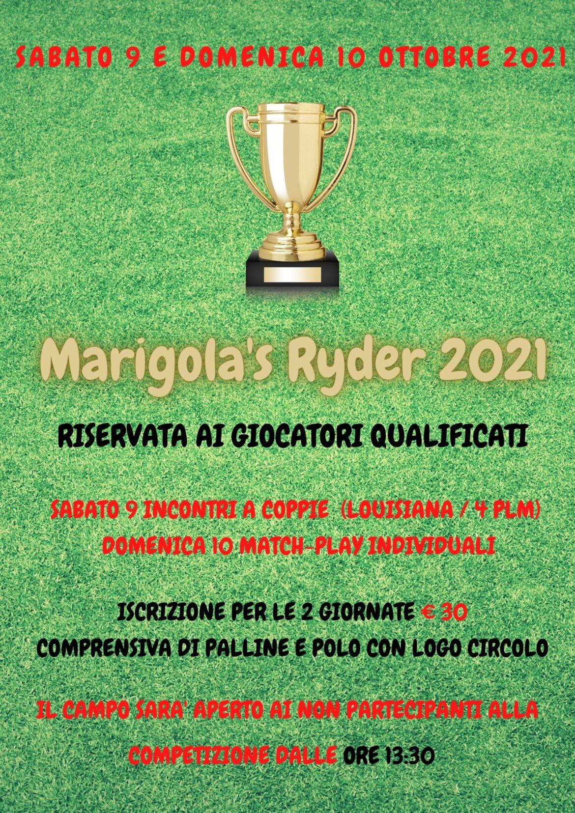 MARIGOLA'S RYDER 2021- sabato 9 e domenica 10 ottobre